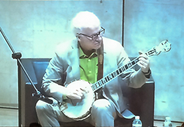Steve Martin playing banjo