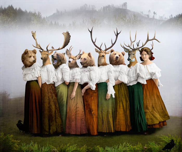 Founding Members of the Wildlife Society by Corinne Geertsen, digital art, digital collage