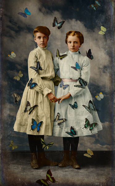 Sisters by Corinne Geertsen, digital art, digital collage